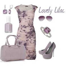 I LOVE this dress!!!    Lovely Lilac, created by danalajeunesse.polyvore.com