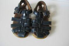 Toddler Boy size 6 Navy Blue Leather Sandals Shoes Stride Rite  #StrideRite #sandals