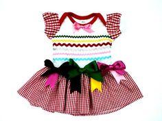 Vestido caipira para bebês
