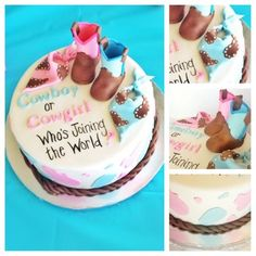 Gender Reveal Party Food and Baby Shower Drinks Ideas Tags: gender reveal party food ideas, gender reveal party food and drink, gender reveal party food ideas while pregnant, gender reveal party food ideas during pregnancy Country Gender Reveal, Baby Gender Reveal Party, Gender Party, Baby On The Way, Baby Time, Reveal Parties, Baby Shower Cakes, Just In Case, New Baby Products