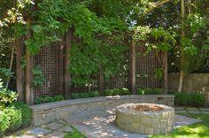 Amazing of Privacy Screen Ideas For Backyard Outdoor Privacy Screen Ideas Patio Traditional With Bench Concrete Diy Pergola, Small Pergola, Backyard Pergola, Fire Pit Backyard, Pergola Ideas, Curved Pergola, Pergola Cover, Patio Roof, Metal Pergola
