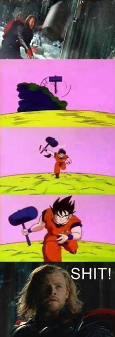 Goku beats Thor any day