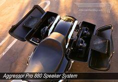 "Aggressor Pro 880 Twin 8"" Full Range Woofer Mount for Harley Davidson Baggers"