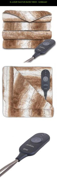 XL Luxury Faux Fur Heated Throw - Sunbeam® #kit #heating #gadgets #drone #camera #products #a #technology #shopping #parts #plans #racing #fpv #blanket #tech