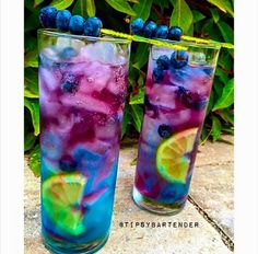 Our Northern Lights Cocktail is on amazing blueberry drink!  Our Northern Lights Cocktail is made with Vodka, Red Bull, Lemon Wedges, and Blueberries!