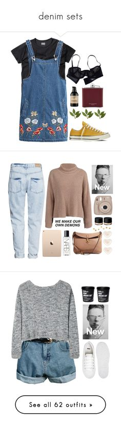 """""""denim sets"""" by londonhype ❤ liked on Polyvore featuring Chicnova Fashion, Converse, Eres, Ardency Inn, Aspinal of London, H&M, COS, Fujifilm, NARS Cosmetics and Burberry"""