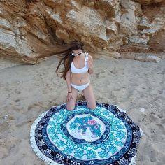 #sunandsandgr #bikini #bikinigirls #towel #roundtowels #bohemian #boho #elephant #whitebikini #beachsupplies #summerneeds #shoponline #shoppaholic #stylishgirls #beachwear #summerfashion #summerlovin