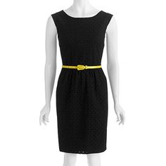 George Women's Belted Eyelet Dress