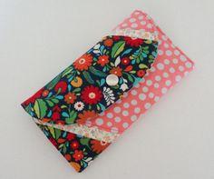 OOAK handmade cotton woman wallet billfold in by stitchinghook