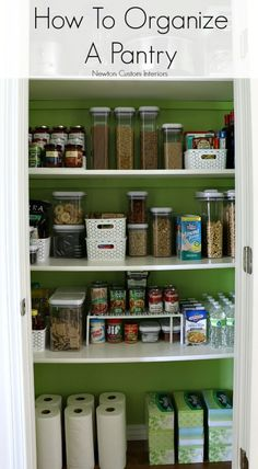 How To Organize A Pantry from Newton Custom Interiors