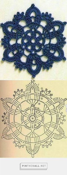 Tecendo Artes em Crochet: Flores - created via http://pinthemall.net