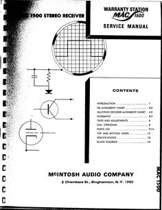 McIntosh MC-30 , Original Service Manual in 2018