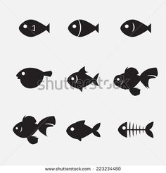 fish icon - stock vector