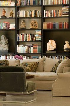 Epic living room shelves.