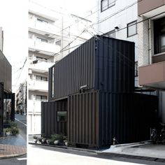 Tomokazu Hayakawa Architects have configured two shipping containers to create a small mixed-use building on a corner in the Torigoe district of...