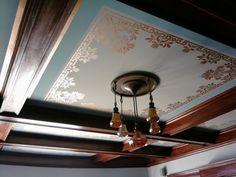 Detail Ceiling Stenciling Guild House Restaurant Restoration
