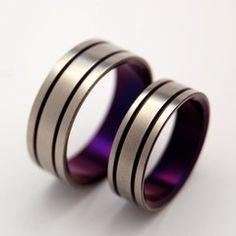 Titanium Rings  #titaniumrings #uniqueweddingring #weddingring