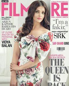 Aishwarya Rai Bachchan On The Cover Of Filmfare Magazine June 2016 #aishwaryaraibachchan #filmfare #bollywood