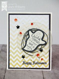 lauralooloo: Seen On Halloween: Ghoulish Greetings {Lil' Inker Designs} handmade halloween card with embossed ghost and ombre patterned paper Halloween Icons, Halloween Images, Halloween Design, Halloween Cards, Holidays Halloween, Scary Halloween, Happy Halloween, Beagle Art, Birthday Sentiments