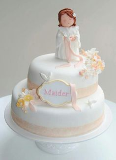 A pretty Christening or baptism cake!