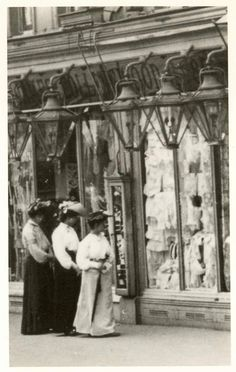 "Shopping unmentionables (commonly known as ""underwear"").  Lewisham High St 1901"