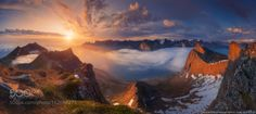 Norway. The island of Senja. The view from the mountains to the by architecturalphotographer via http://ift.tt/29BDozC