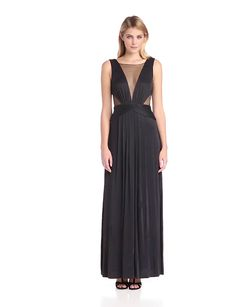 Dress  BCBGMAXAZRIA Women's Magdalena Long Draped Jersey Evening Dress, Black, X-Small Discount !!!