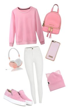 """Pink one"" by rightorleft ❤ liked on Polyvore featuring Chloé, MICHAEL Michael Kors, Ted Baker, Frends and Silver Spoon Attire"