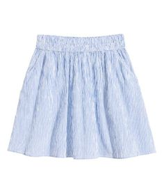 Cotton Skirt | White/blue striped | Ladies | H&M US
