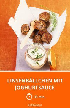Linsenbällchen mit Joghurtsauce