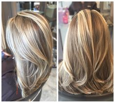 Blonde Balayage by the Balayage experts at Gleam Hair Studio Miami Blonde Hair Looks, Blonde Hair With Highlights, Brown Blonde Hair, Blonde Balayage, Bayalage, Curls For Long Hair, Long Hair Cuts, Hair Color And Cut, Hair Color Shades
