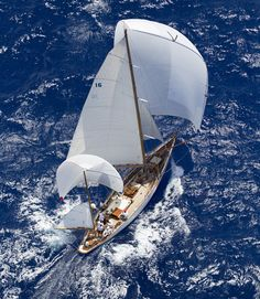 My Boats Plans - Under full sail on a sapphire blue sea Master Boat Builder with 31 Years of Experience Finally Releases Archive Of 518 Illustrated, Step-By-Step Boat Plans Classic Sailing, Classic Yachts, Classic Boat, Giant Waves, Sailing Holidays, Cruise Holidays, Full Sail, Yacht Boat, Sail Away