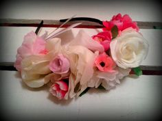 Vinchas con flores coronada. Inspiradas en Frida Kahlo.