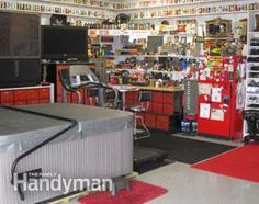 TV the way it's meant to be watched - get more #ManCave ideas: http://www.familyhandyman.com/basement/man-cave-ideas