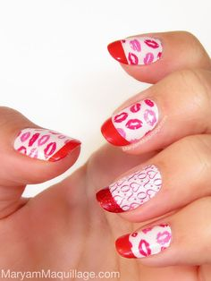 Lovely Kiss Nail Designs