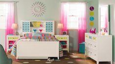 Mädchenzimmer Gardinenideen Farbverlauf rosa pink
