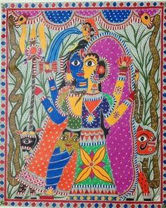 The Holy Union - Ardhanareshwar - Folk Art by Vidushini