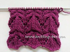 Pretty Lace and Cable Free Knitting Stitch free knitting stitch designed by Knitting Bee Lace Knitting Stitches, Cable Knitting Patterns, Circular Knitting Needles, Loom Knitting, Free Knitting, Sweater Patterns, Stitch Design, Pretty, Hat Crochet