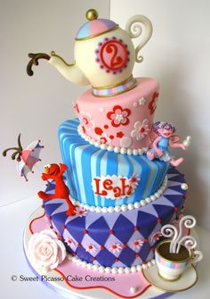 OMG would LOVE this cake for Aliza's Elmo and Abby party! (won't happen, but one can dream!)