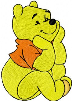 Winnie Pooh free embroidery design
