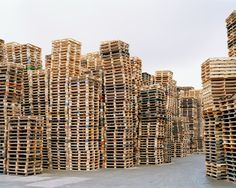 """11x14 in. Simon Carruthers Untitled (Pallets). Consumption has moved from a means towards an ends - living - to being an end in its own right."""" -Yiannis Gabriel, 1995 """"Mass production decreases our emotional attachment to our possessions, making them easier to discard."""" - Howies, 2007 Every item we own has an origin. Everything that surrounds us in our homes, in our workplace, and throughout our modern metropolis, has been extracted from the natural world. The man-made world is a world…"""