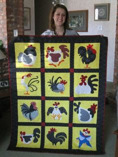 Quilting Sisters: Susan's Chicken Quilt