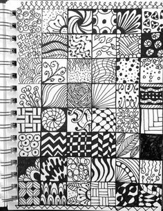 I Dare You to NOT be inspired by these! Are you looking for more Mandala or The Mandala Art Worked In With These Zentangle Patterns are SO Incredible! Art Drawings Simple, Cool Art Drawings, Doodle Patterns, Zentangle Patterns, Pencil Art Drawings, Doodle Drawings, Sharpie Art, Tangle Art, Pattern Art
