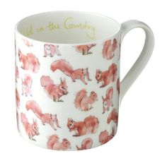 Wild In The Country Squirrel Mug, Designed by Stefanie Pisani for Graduate Collection. on Etsy, $17.04