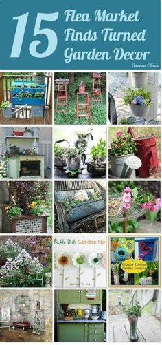 Flea Market Finds Turned Garden Decor
