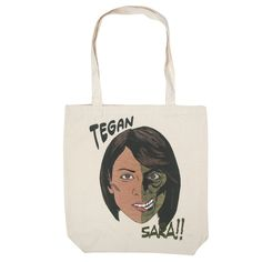 Go see @teganandsara's Two Face Tote Bag