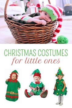 ** ADORABLE Christmas Tree costume for toddlers! Plus a baby elf outfit, newborn Christmas outfits, Christmas themed Halloween onesie, Mrs claus for little girls, and more. See them now...