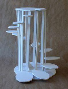 Clara Lieu, RISD Project Open Door, Staircase Sculpture Assignment, foam board & hot glue, 2014