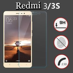 For Xiaomi Redmi 3/Redmi 3 Pro/Redmi 3S Case Tempered Glass Film 9H UltraThin Premium Screen Protector For Redmi3 Prime Cover