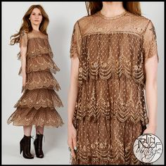 vintage 80s SILK LACE gatsby dress XS S mauce by TinRoofVintage, $525.00